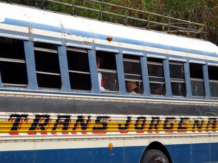 Atitlan  Guatemala - 06 Mar 2011: The bus in Guatemala Editorial