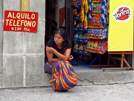 Atitlan / Guatemala - 06 Mar 2011: The people in Atitlan town, Guatemala Editorial