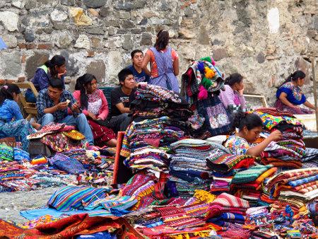 Antigua / Guatemala - 06 Mar 2011: The local market in Antigua, Guatemala Editorial