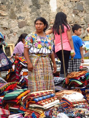 Antigua / Guatemala - 06 Mar 2011: The local market in Antigua, Guatemala
