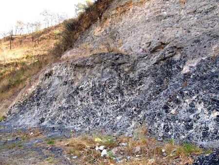 The obsidian - the black stone, Mexico