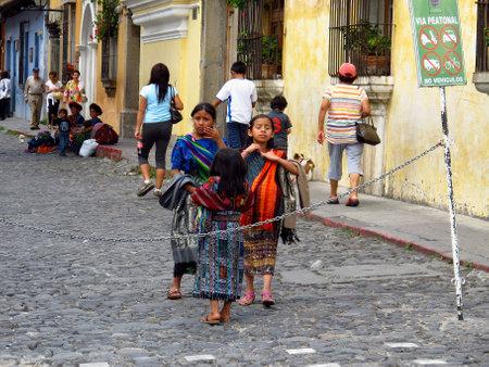 Antigua / Guatemala - 06 Mar 2011: The people in Antigua, Guatemala