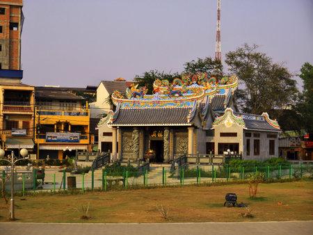 Vientiane  Laos - 26 Feb 2012: The house in Vientiane, Laos