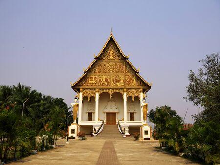 The ancient Wat in Vientiane, Laos