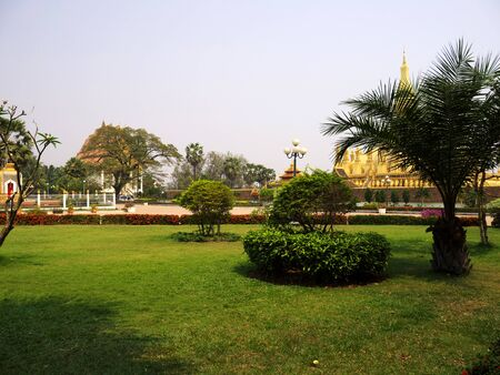 The park in Vientiane city, Laos