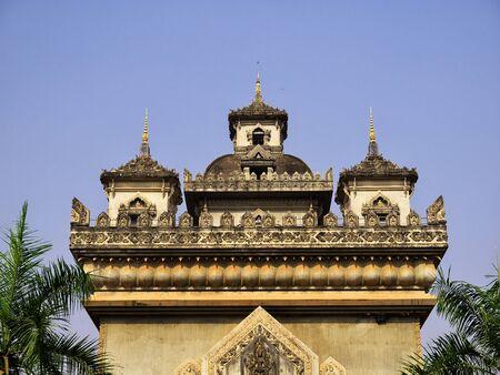 Patuxai in Vientiane city, Laos