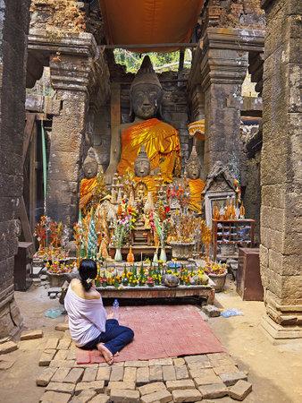 Mekong / Laos - 27 Feb 2012: Vat Phou temple in Laos