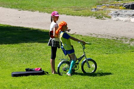 Helsinki  Finland - 22 Jun 2012: Pippi Longstocking