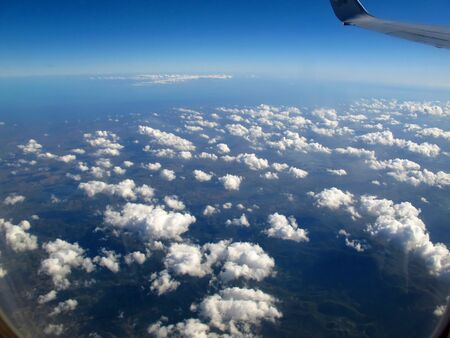 Caribbean Sea, the view from a plane Imagens