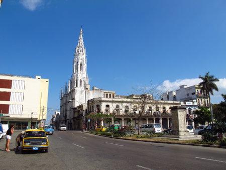 Havana / Cuba - 24 Feb 2011: The church in Havana, Cuba 写真素材 - 129379554