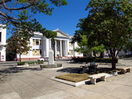Cienfuegos / Cuba - 25 Feb 2011: The vintage building in Cienfuegos, Cuba Stock Photo - 129379561