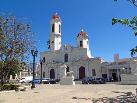 Cienfuegos  Cuba - 25 Feb 2011: The church in Cienfuegos, Cuba