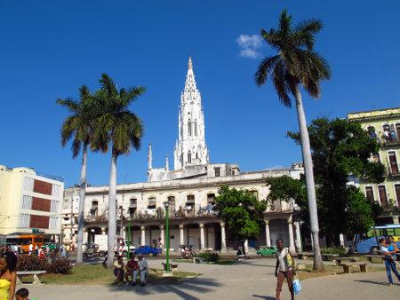 Havana / Cuba - 24 Feb 2011: The church in Havana, Cuba 写真素材 - 129379288