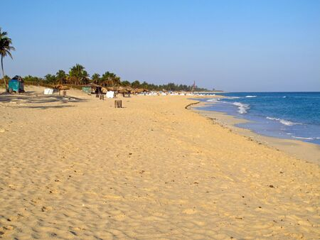 The beach of Caribbean sea on Havana, Cuba