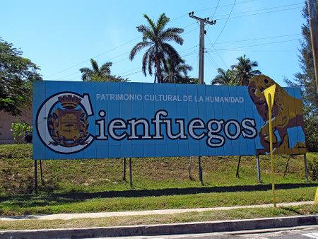 Cienfuegos  Cuba - 25 Feb 2011: The plate in Cienfuegos, Cuba