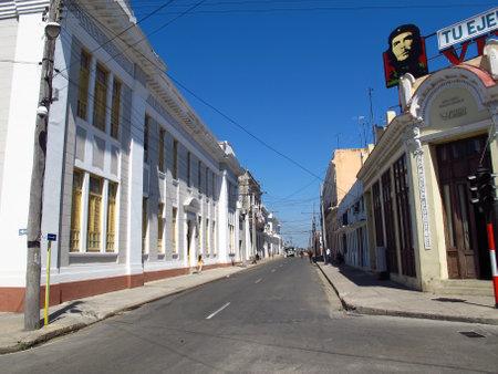 Cienfuegos  Cuba - 25 Feb 2011: The street in Cienfuegos, Cuba