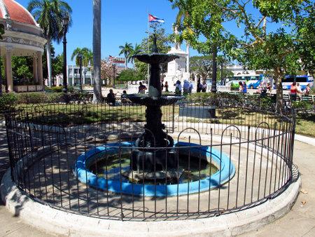 Cienfuegos  Cuba - 25 Feb 2011: The fountain in Cienfuegos, Cuba Editorial