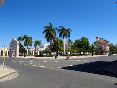 Cienfuegos  Cuba - 25 Feb 2011: The park in Cienfuegos, Cuba Editorial