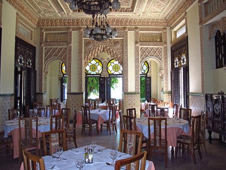 Cienfuegos  Cuba - 25 Feb 2011: The vintage interior of the building in Cienfuegos, Cuba
