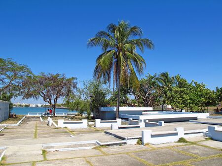 The park in Cienfuegos, Cuba Stock Photo