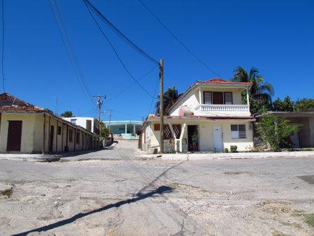 Cienfuegos  Cuba - 25 Feb 2011: Houses in the village close Cienfuegos, Cuba