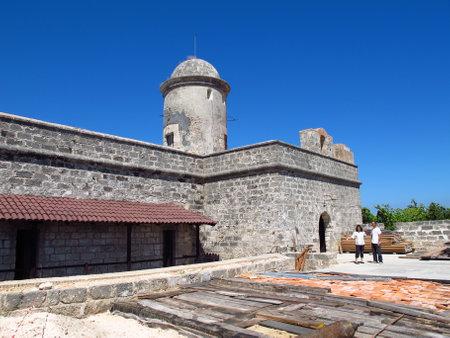 Cienfuegos  Cuba - 25 Feb 2011: The old fortress in Cienfuegos, Cuba Editorial