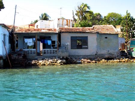 Cienfuegos  Cuba - 25 Feb 2011: The river in Cienfuegos, Cuba