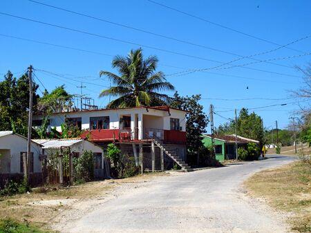 Houses in the village close Cienfuegos, Cuba