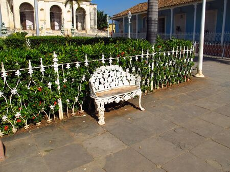The park in Trinidad, Cuba