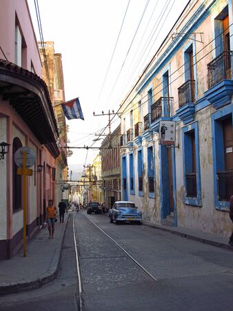 Santiago / Cuba - 27 Feb 2011: The street in Santiago, Cuba Editorial
