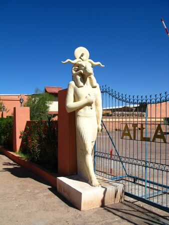Ouarzazate / Morocco - 06 Nov 2010: Atlas Film Studio in Sahara desert, Ouarzazate, Morocco Archivio Fotografico - 129379927