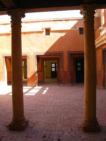 Ouarzazate / Morocco - 06 Nov 2010: Atlas Film Studio in Sahara desert, Ouarzazate, Morocco Archivio Fotografico - 129379891