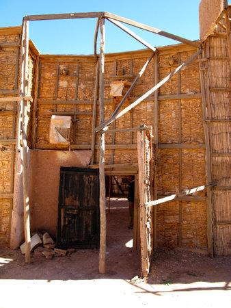 Ouarzazate / Morocco - 06 Nov 2010: Atlas Film Studio in Sahara desert, Ouarzazate, Morocco Archivio Fotografico - 129379869