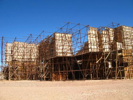 Ouarzazate / Morocco - 06 Nov 2010: Atlas Film Studio in Sahara desert, Ouarzazate, Morocco Archivio Fotografico - 129379826