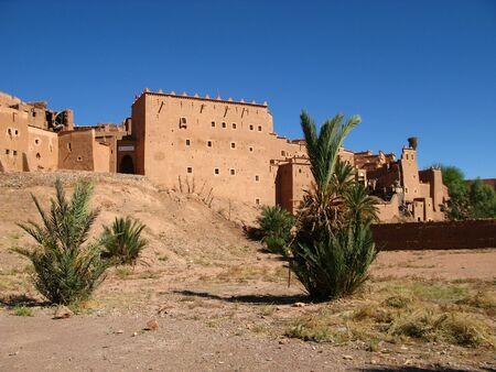 The ancient kasbah, in Ouarzazate, Morocco Standard-Bild - 129435195