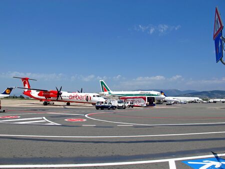 The airport in Florence, Italy