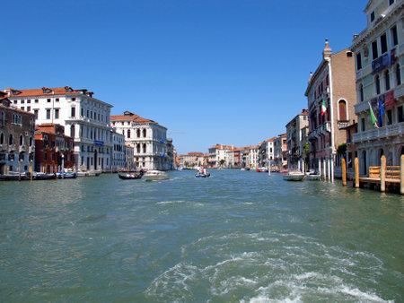 Venice / Italy - 12 Jul 2011: The Grand Canal in Venice, Italy