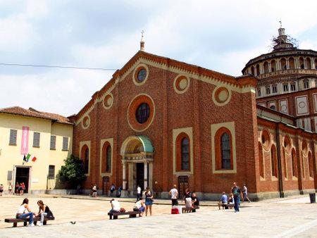 Milan  Italy - 14 Jul 2011: Church of Santa Maria delle Grazie, Milan, Italy Redactioneel