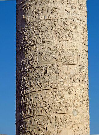 Trajan's Column in Rome, Italy