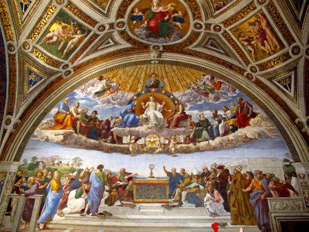 Rzym / Watykan - 16 lipca 2011: Pokoje Rafaela, Muzeum Watykańskie, Rzym, Włochy
