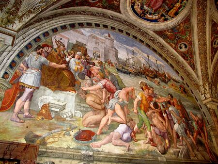 Rome / Vatican - 16 Jul 2011: Raphael Rooms, Vatican Museum, Rome, Italy
