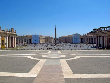 St. Peters square, Vatican, Rome, Italy
