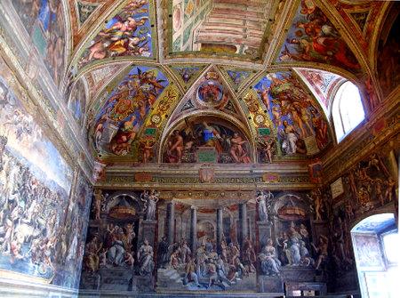 Rome / Vatican - 16 juil. 2011 : Salles Raphaël, Musée du Vatican, Rome, Italie Éditoriale