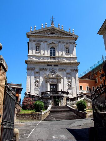 The ancient church in Rome, Italy