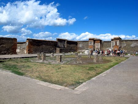 Pompeii  Italy - 22 Jul 2011: Ancient Roman ruins in Pompeii, Italy