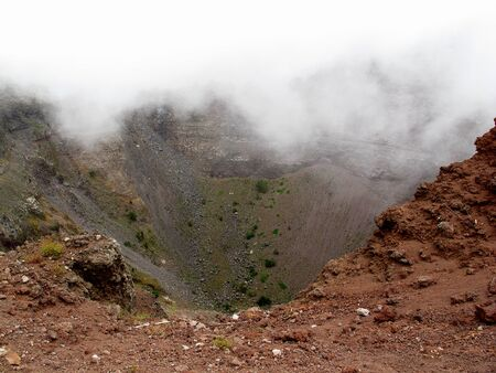 Volcano Vesuvius in the fog, Italy