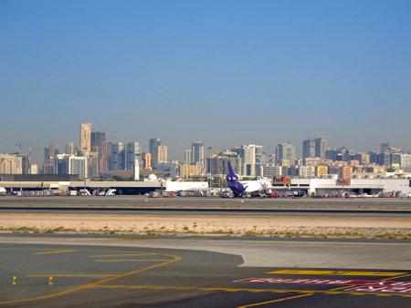 Dubai  UAE - 01 Jan 2011: The view on Dubai Airport, UAE