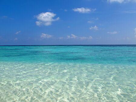 La plage des Maldives, océan Indien