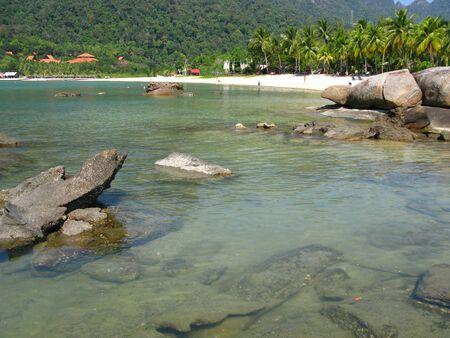The beach in Langkavi island, Malaysia 스톡 콘텐츠