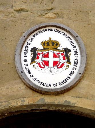 Valletta / Malta - 18 Jul 2011: The Arms in Valletta, Malta
